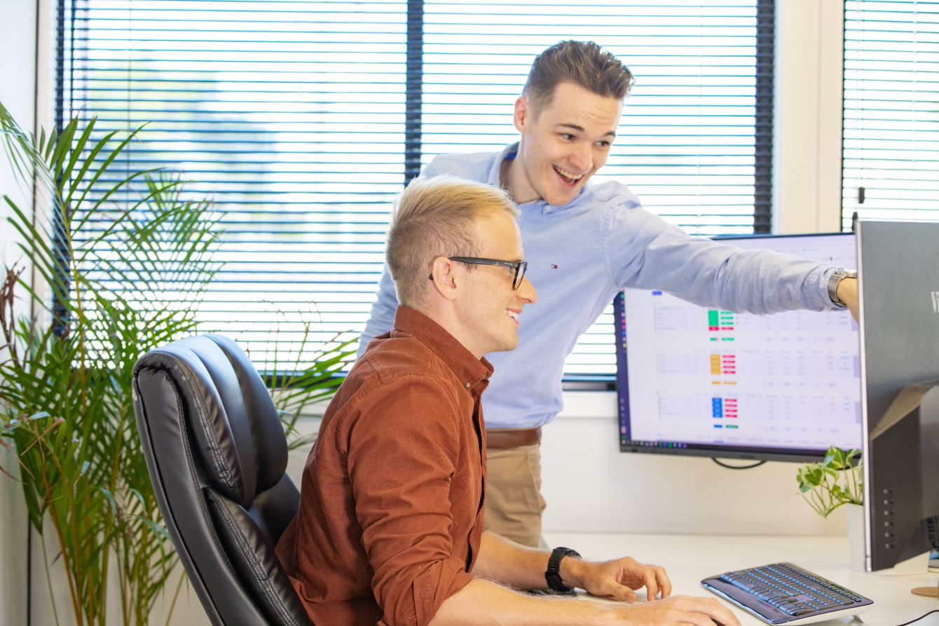 Web Design - Ben and Todd at a computer